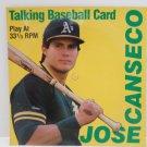1989 Talking Baseball Card Jose Conseco Play at 33 1/3 RPM