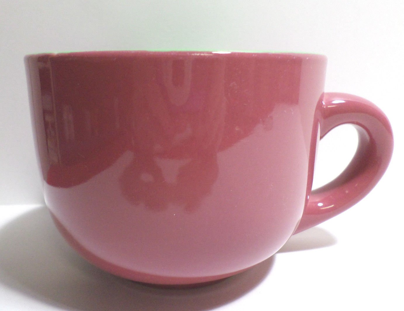 Collector Coffee Mug Cup Pink on the Outside Green on the Inside
