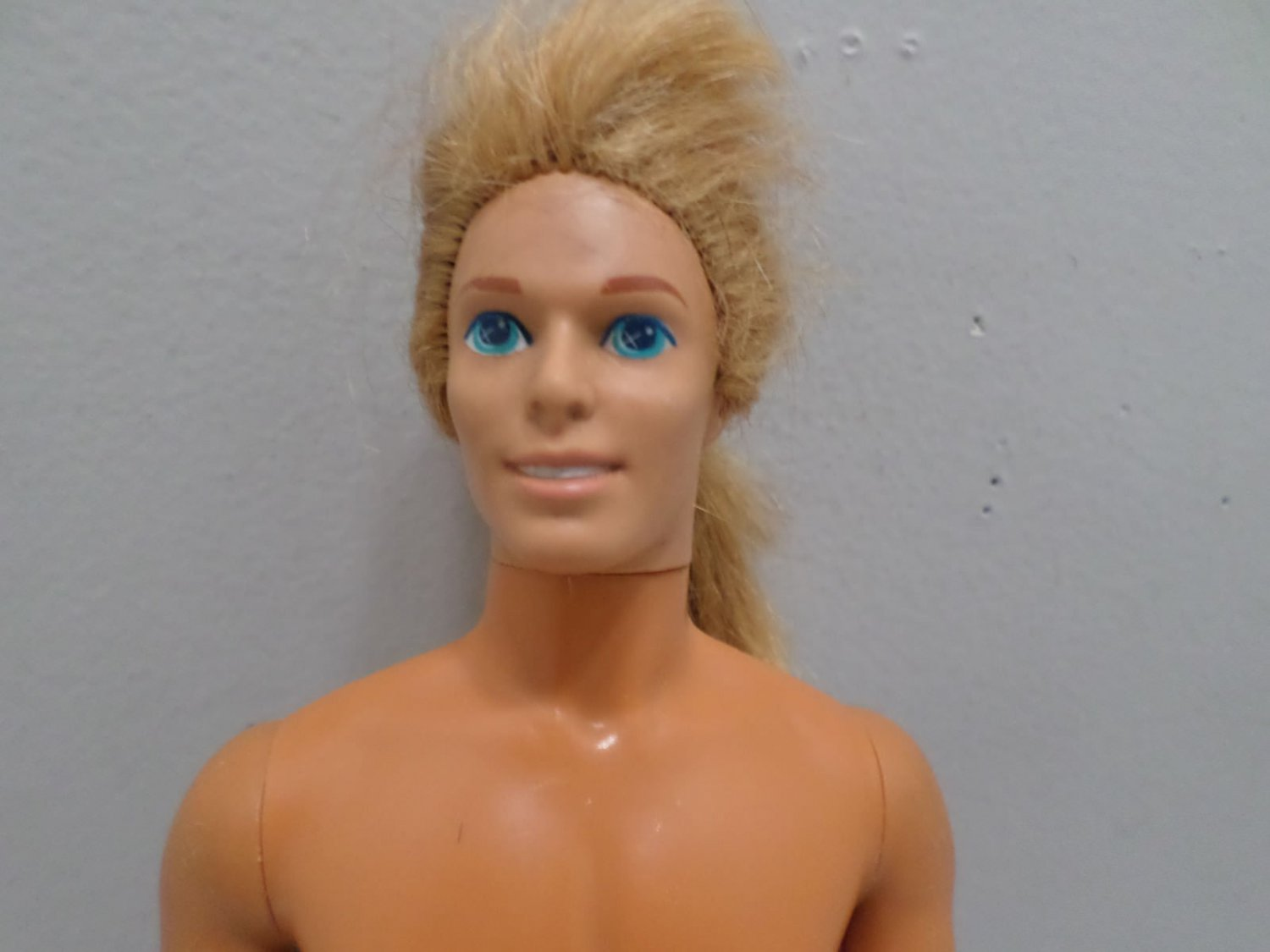 Vintage 1968 Ken Doll by Mattel Malaysia Rooted Strawberry Blonde Hair