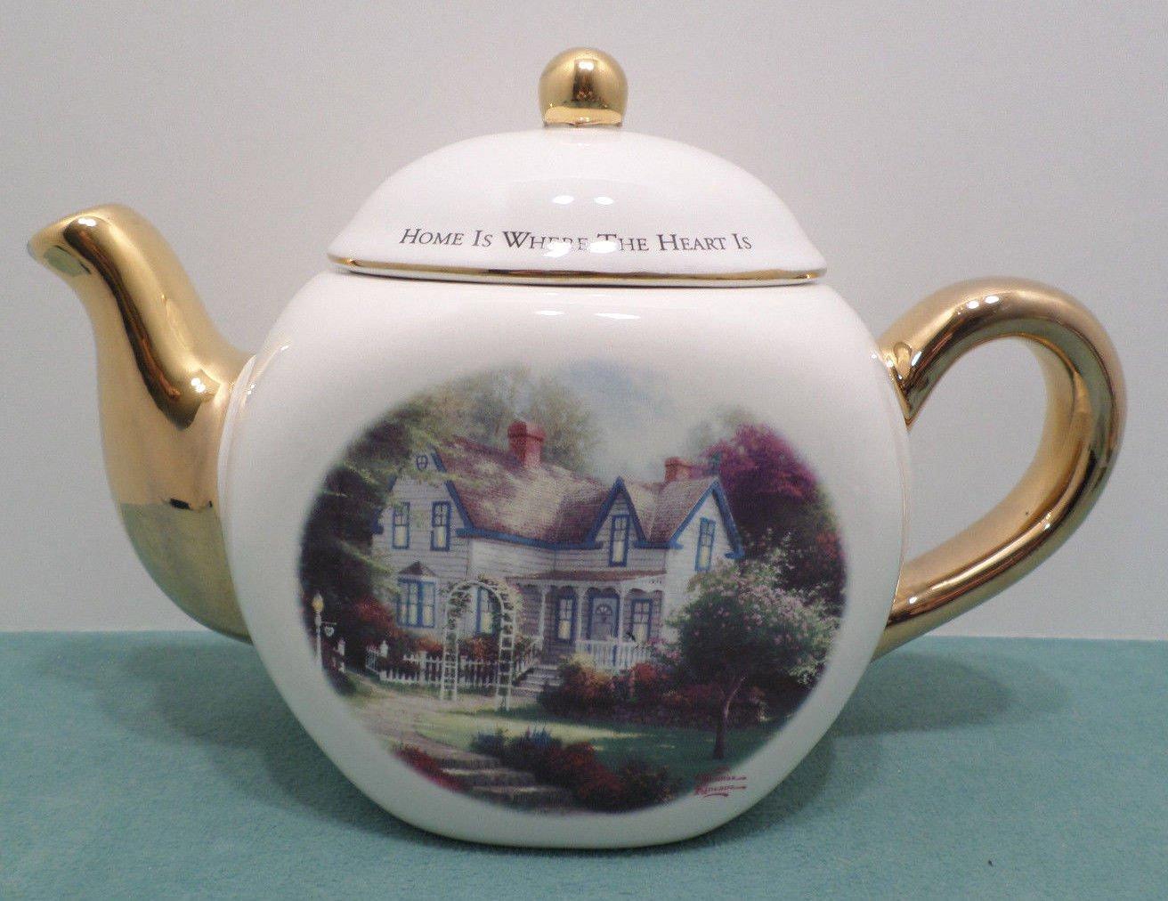 Tea Pot Home is Where the Heart is by Thomas Kinkade Teleflora Porcelain