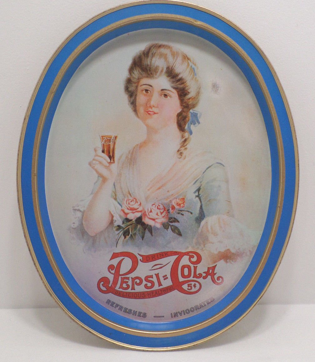 1970 Serving Tray Pepsi Cola Metal  by Fabcraft Inc.