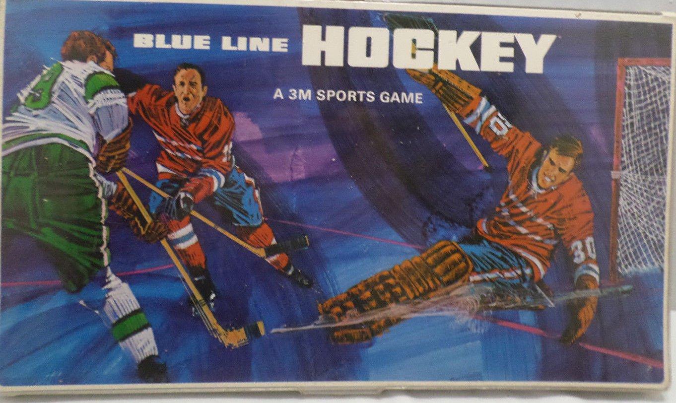 Blue Line Hockey Board Game by 3M Company 1968