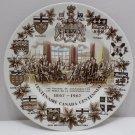 Souvenir Collector Plate Canada Centennial 1867 - 1967 Wood & Sons England