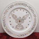 Commemorative Collector Plate 200 Years of American Democracy Gold Eagle