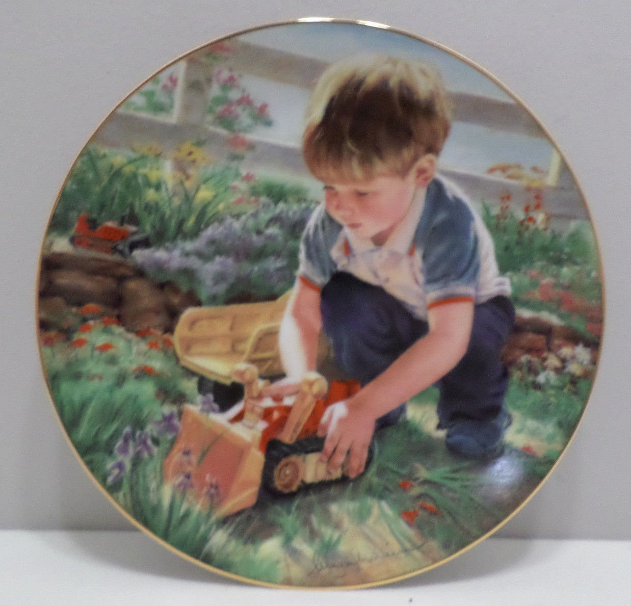 1986 Collector Plate Forgive Our Trespasses by Abbie Williams Hamilton Collection
