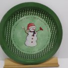 Metal Christmas Tray Snowman Design Let it Snow