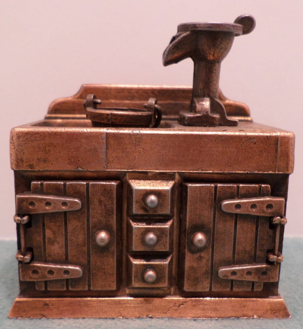 Die Cast Copper Kitchen Sink miniature by Durham Corp. made in Hong Kong