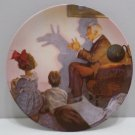 1987 Collector Plate The Shadow Artist by Norman Rockwell Heritage Collection