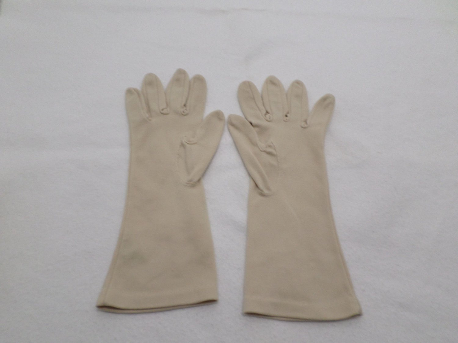 Women's Gloves Wedding Prom Party Beige size Small go Half way up arm Vintage