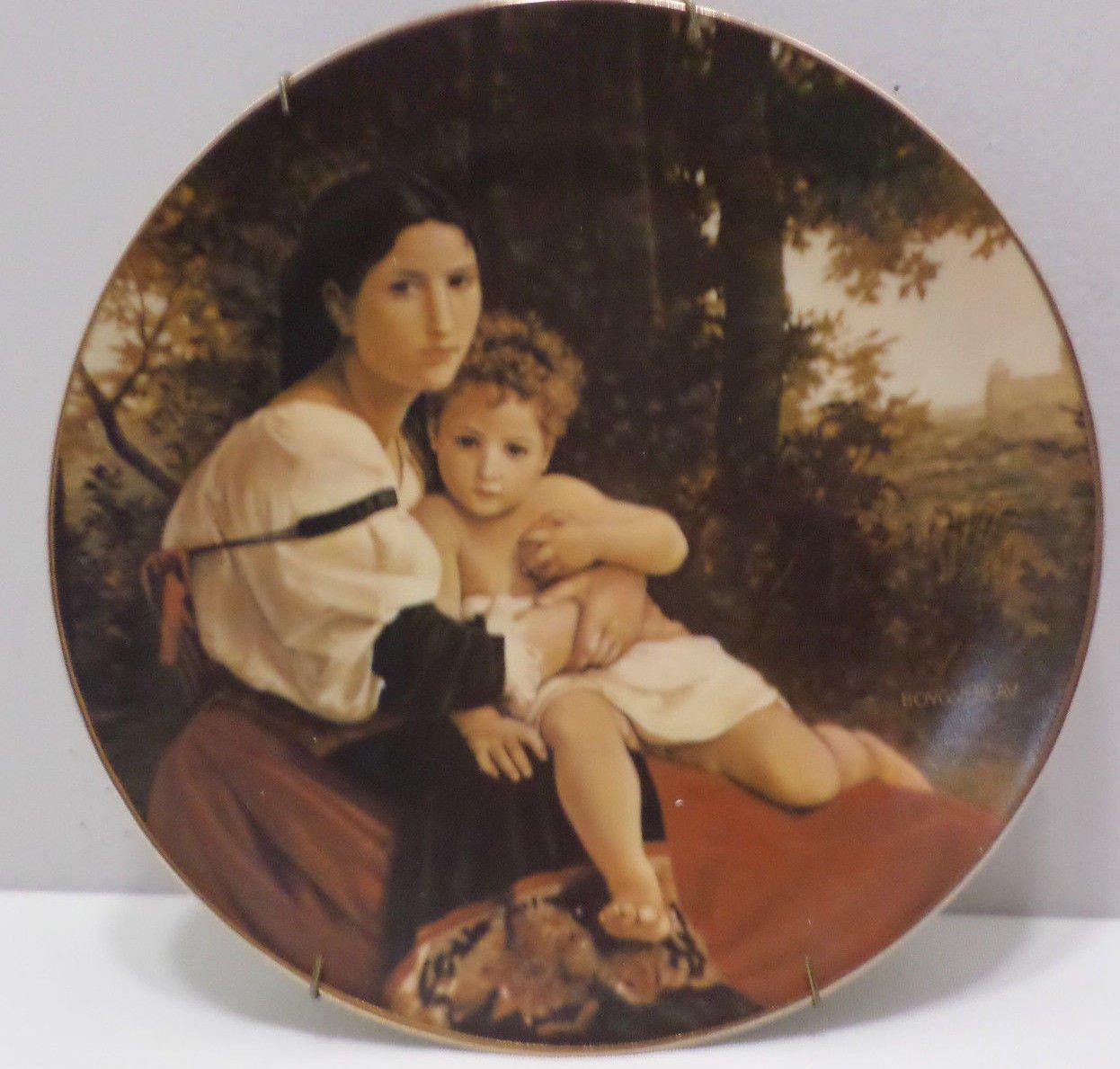 1979 Collector Plate Solance Et Enfant by William Bouguereau #07804