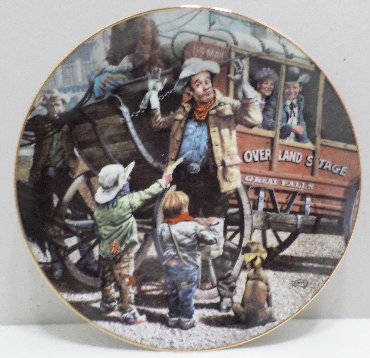 1986 Collector Plate The Desperadoes by Don Crook The Hamilton Collection