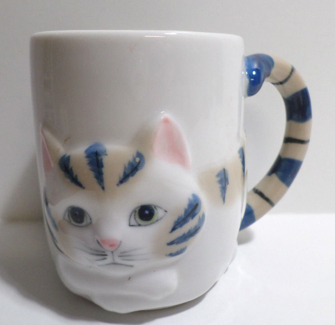 Collector Coffee Mug Cup Kitty Cat Feline with Tail as Handle