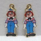 Bracelet Charms Raggedy Andy by Bobbs Merrill Co. Gold Tone Metal with enamel