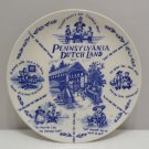 Collector Plate Pennsylvania Dutch Land Blue and White Porcelain