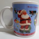 Collector Coffee Mug 2006 Christmas Rick's Drive In & Out Uptown Whittier