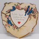 Antique Valentines Day Card Birds Whitney Made in USA