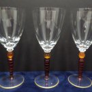 Cocktail Glasses wth Red and Orange Stems Set of Three