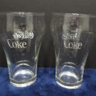 Vintage Coca Cola Drinking Glasses Clear Glass