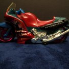 Spiderman Motorcycle w/headlight Battery Operated Bump & Go Action 2002
