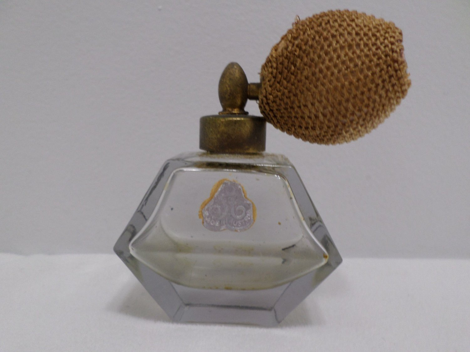 Vintage Perfume Bottle with Atomizer Rose Glass made in Austria