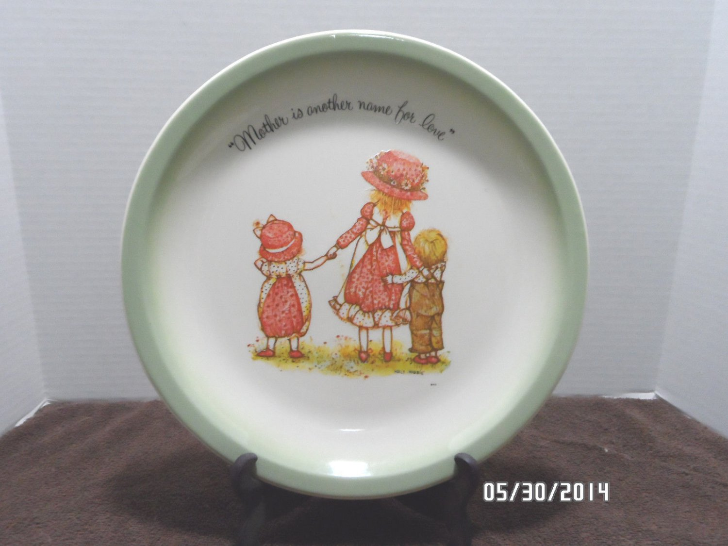 Collector Plate Holly Hobbie Mother is Another Name for Love