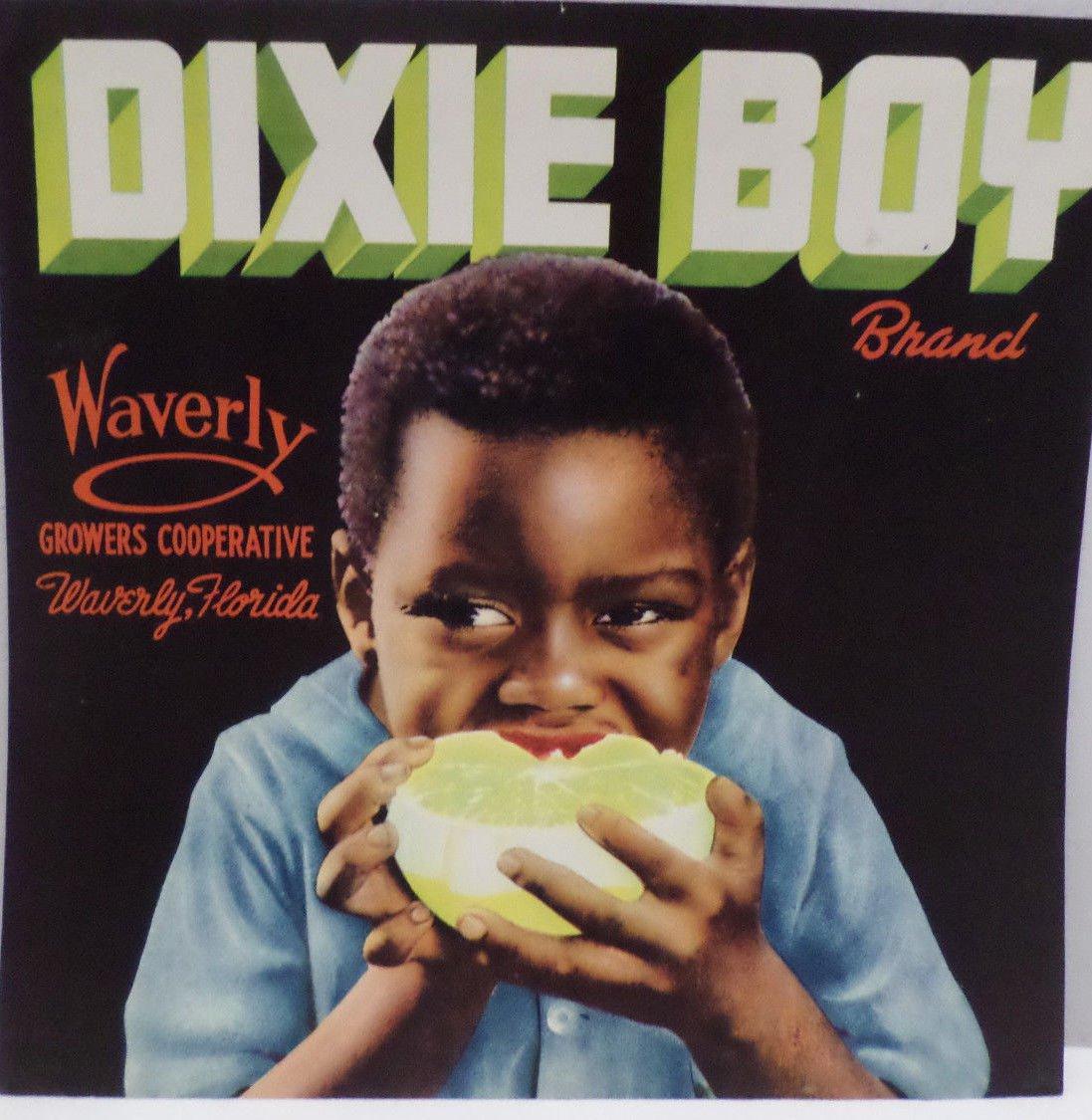 Vintage Crate Label Dixie Boy Growers Cooperative Waverly Florida Origianl