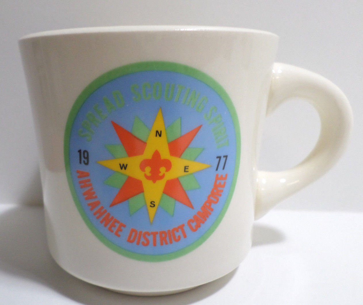 Collector Coffee Mug Cup 1977 Spread Scouting Spirit Ahwahnee Camporee