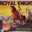 Vintage Crate Label Royal Knight Redlands Cooperative Fruit Association Original