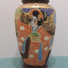 Vintage Japanese Flower Vase Satsuma Moriage