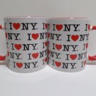 Collector Coffee Mug Cups I Love New York by City Merchandise 2 Cups
