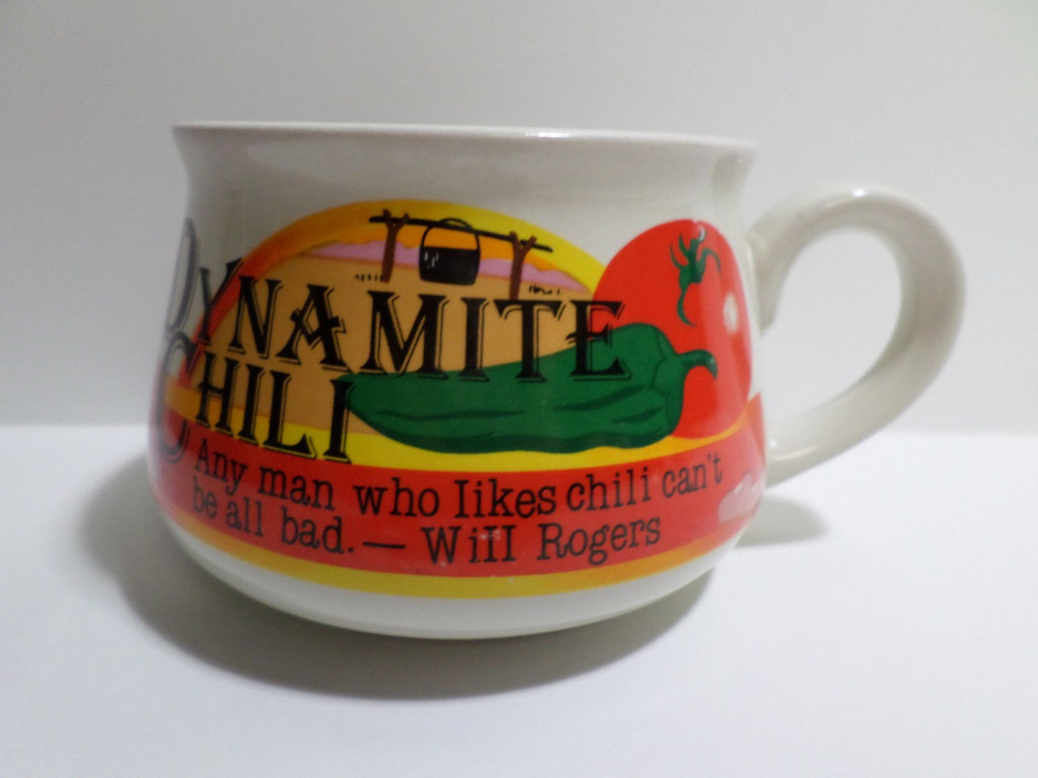 Collector Coffee Mug Dynamite Chili Any Man Who Likes Chili Can't be all Bad