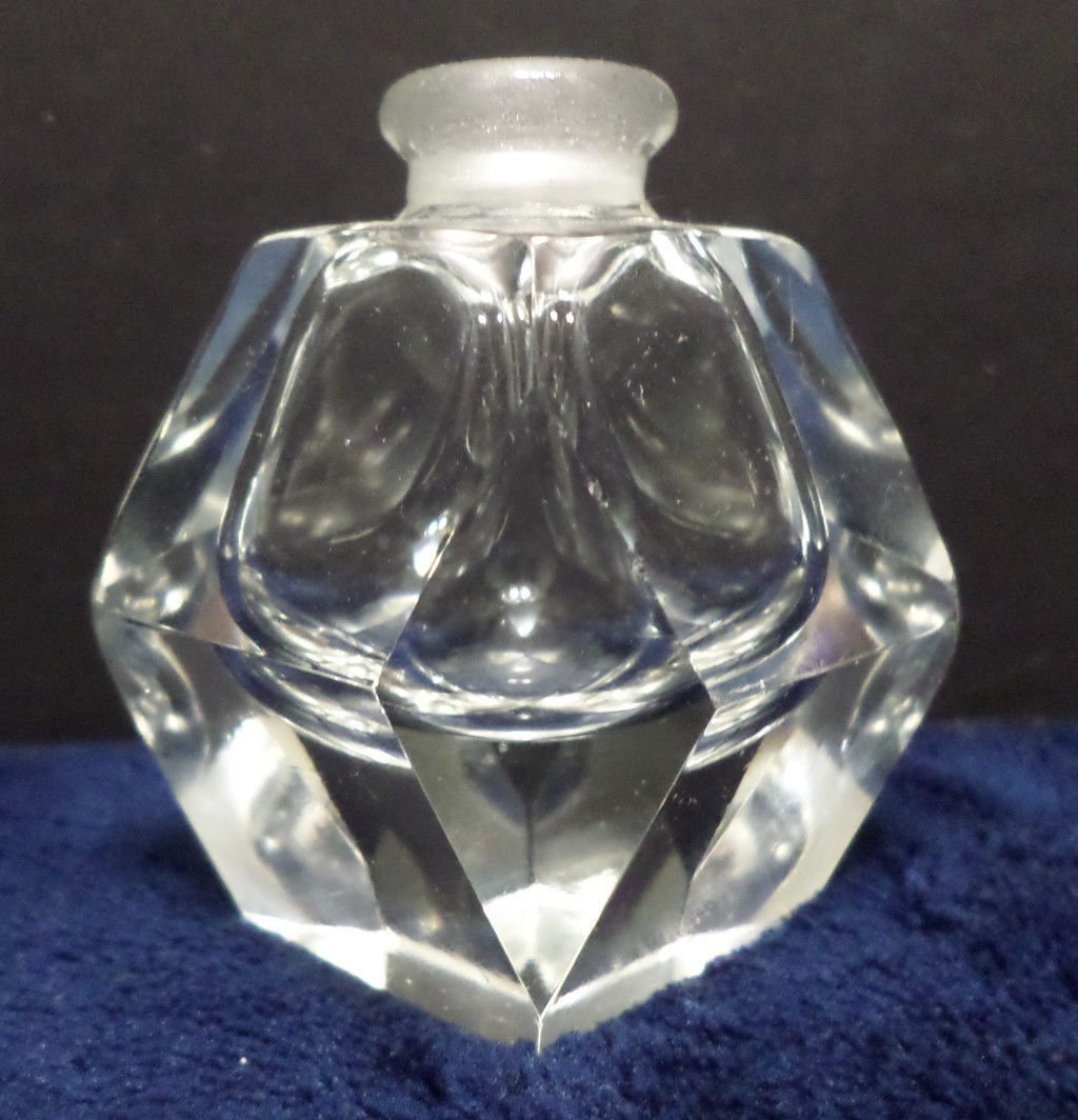 Vintage Perfume Bottle Clear Crystal