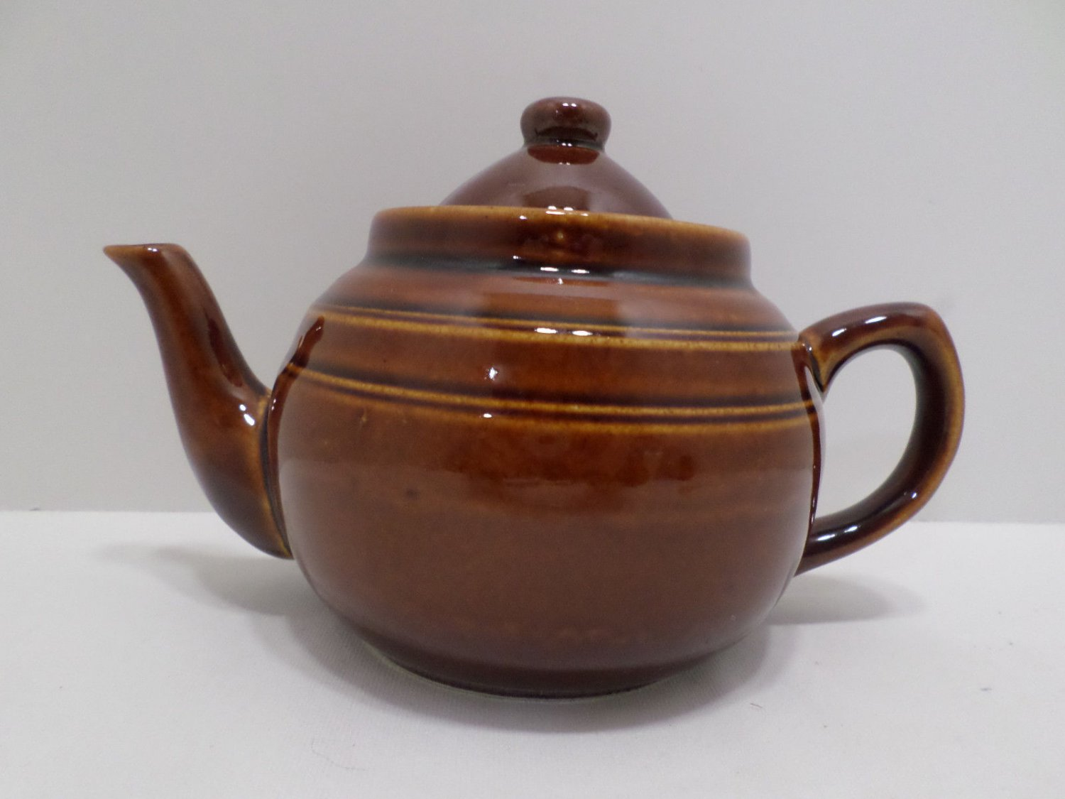 Vintage Teapot Brown Porcelain Made in China