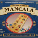 Mancala Oak Finished Wood Board Gemstone Playing Pieces 1999