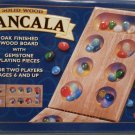 Mancala Oak Finished Wood Board Gemstone Playing Pieces 2001