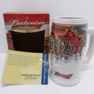 2006 Budweiser Holiday Collector Stein Sunset at the Stables New in Box w/COA