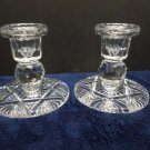 Vintage Pair of Lead Crystal Candle Stick Holders