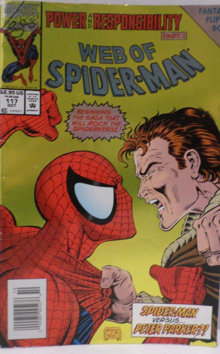 Web of Spider-man Birth of a Spider-man Part 1 Fantastic Flip Book Marvel Comics
