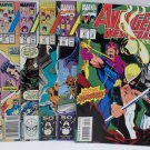 Avengers West Coast 1989 #19 #52, 1990 #54, 1991 #67 #68, 1993 #97 Marvel Comics
