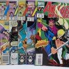 Avengers West Coast 1989 #19 #52, 1990 #54, 1991 #67 #68, 1993 #97 Marvel Comics