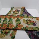 Place Mats & Table Runner Set Tapestry 5 Pc Fall Autumn Thanksgiving Leaves