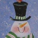 Christmas tin box snowman design