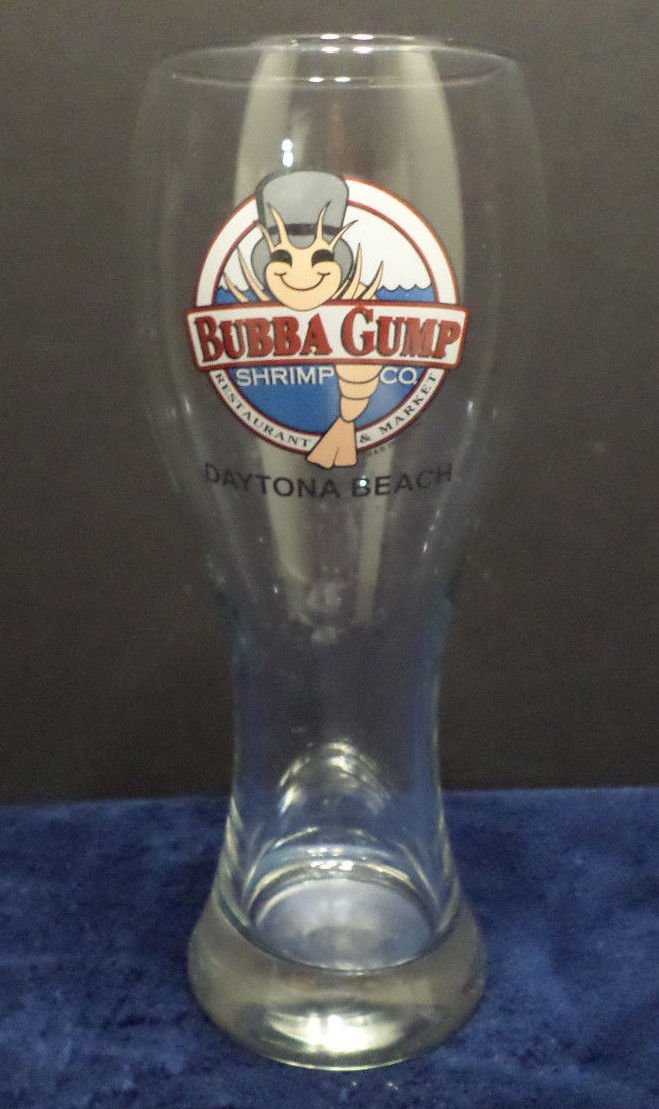 Bubba Gump Shrimp Co. Beer Glass Daytona Beach
