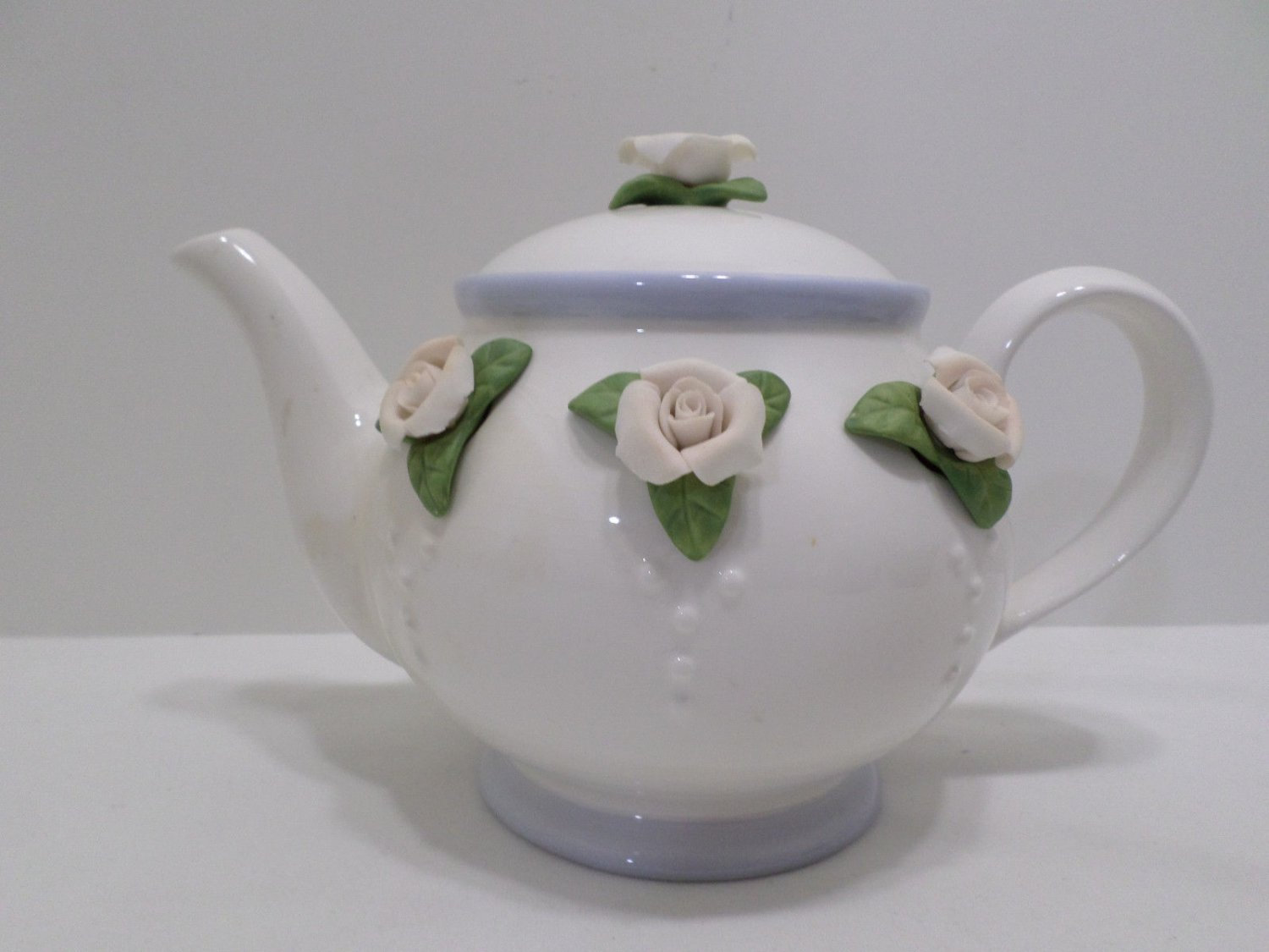 Teleflora Teapot Porcelain with Floral Design made in China