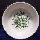 Lenox Holiday Bowl Green Holly Leaves Red Berries