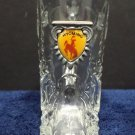 Vintage Shot Glass Wyoming Canada Clear Glass Boot