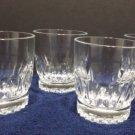 Vintage Juice Glasses Crystal Set of 4