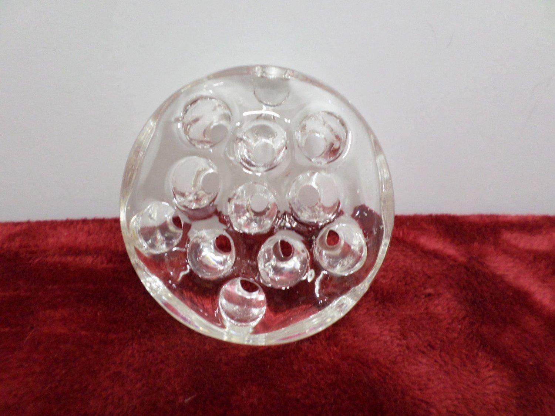 Flower Frog Clear Glass Vintage