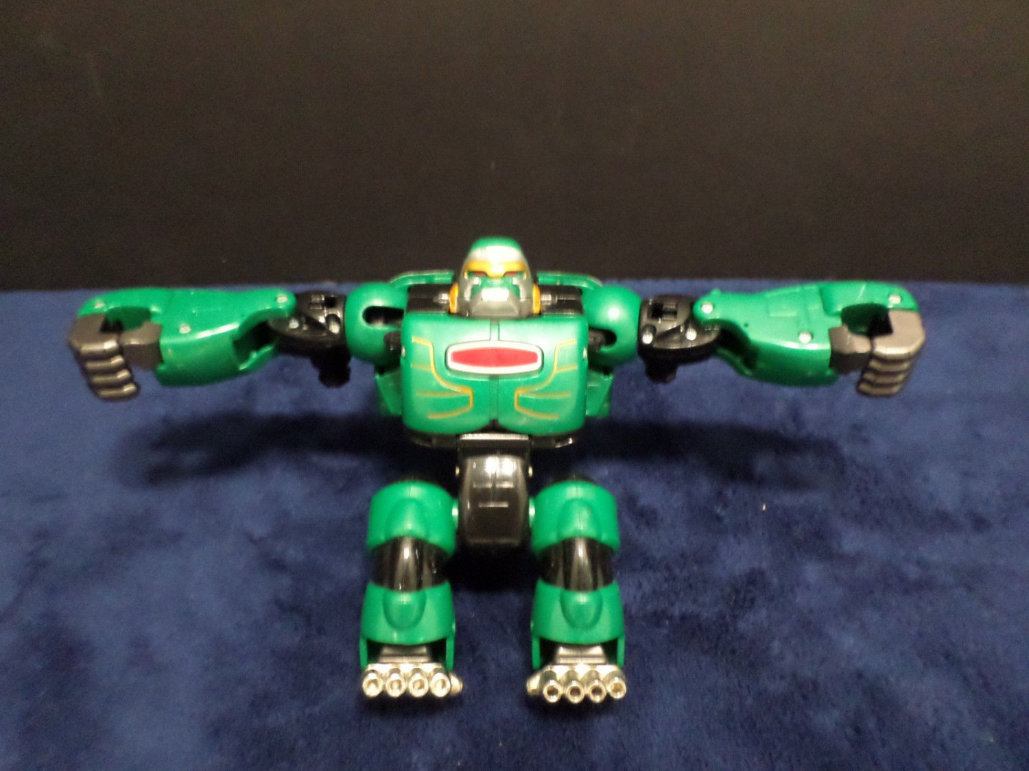 Green Transformer Robot Action Figure