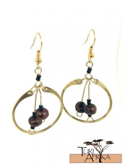 Product ID: 1     Brass Loop Earrings W/ Seeds